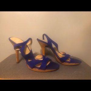 Isola Electric Blue Sandals Cork Bottom